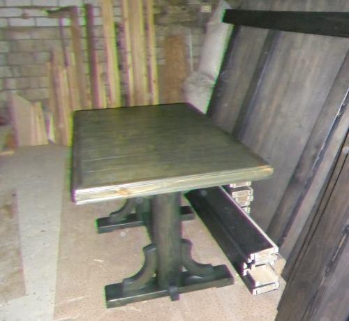 Стол на двух ножках из фанеры своими руками